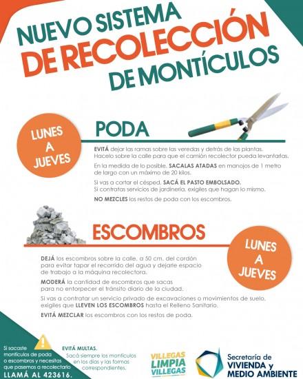 Afiche Recolección de Montículos